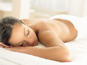 Woman Relaxing on a Towel